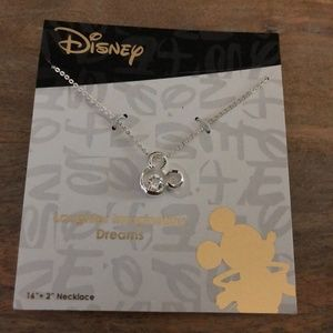 Mickey Mouse Silver Necklace LA Rocks